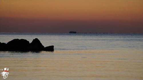 ocean italy sunrise potenza porto marche picena