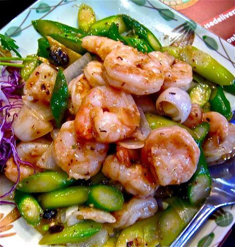 shrimp with black bean sauce..incredble