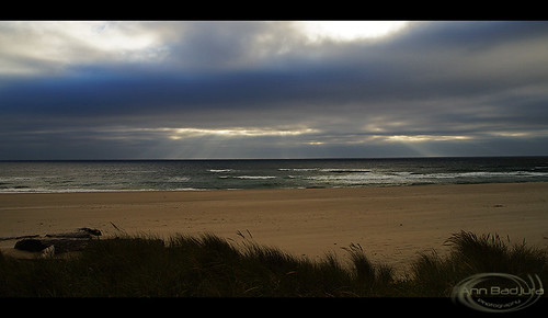 ocean sunset usa beach clouds oregon evening waves view dunes oregoncoast sunrays lincolncity annbadjura