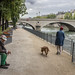 Paris la Seine Poor man & woman dog Paris by Roubinoff 2013
