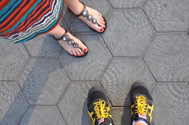 Outside Gaudi's La Pedrera