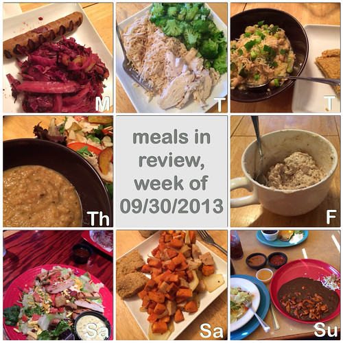 meals in review, week of 09/30/2013
