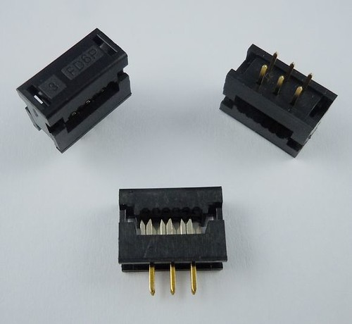 Types Of Ribbon Cable Connectors : Pcs mm pin male header idc ribbon cable