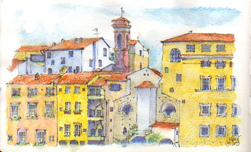 Firenze - 41st Sketchcrawl between Ponte Vecchio and San Frediano