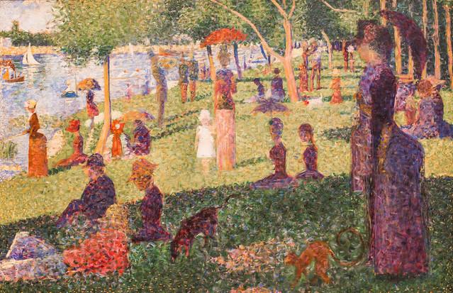 georges seurat a sunday on la grande jatte essay La grande jatte 1884-86 oil on canvas, 205 x 305 cm art institute of chicago, chicago, il, usa.