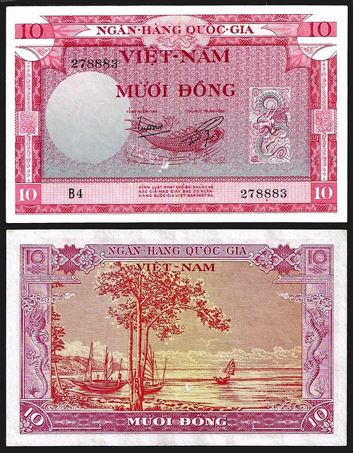1955 South Vietnam 10 Dong