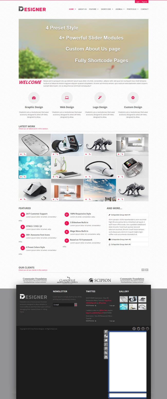 Noo Designer - Multipurpose Responsive Portfolio