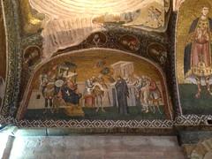 carving(0.0), altar(0.0), mosaic(0.0), basilica(0.0), building(0.0), mural(0.0), tapestry(1.0), art(1.0), ancient history(1.0), painting(1.0),