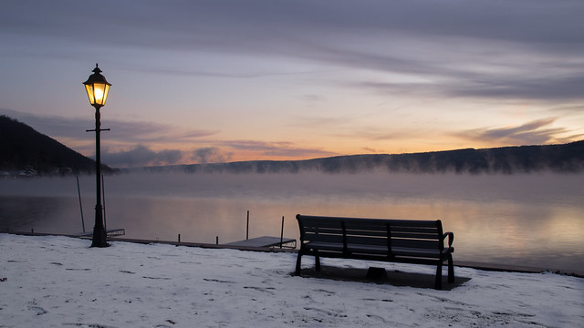 Dawn on Keuka Lake