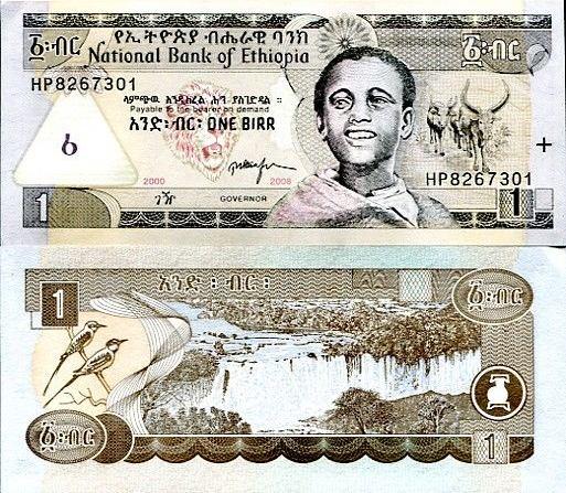 1 Birr Etiópia 2008, Pick 46