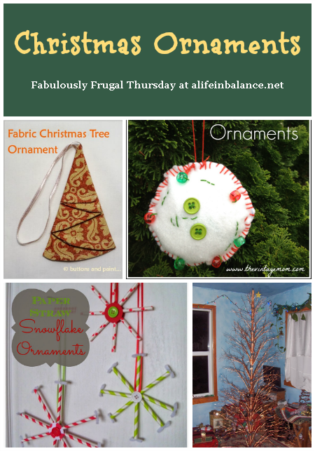 4 Frugal Christmas Ornaments