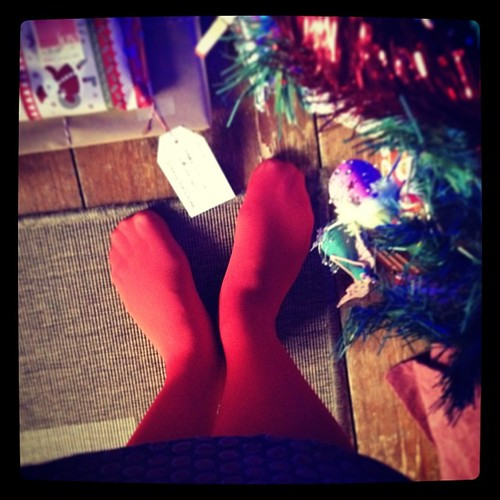 Festive tights! #red