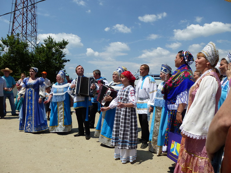 A group of national Russian song from Kolomna
