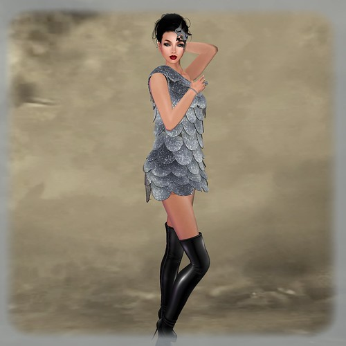 #He La#Metallic Shimmer dress+mask ADD ME! (unpacked) by Orelana resident
