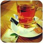 Cup of tea after landing.