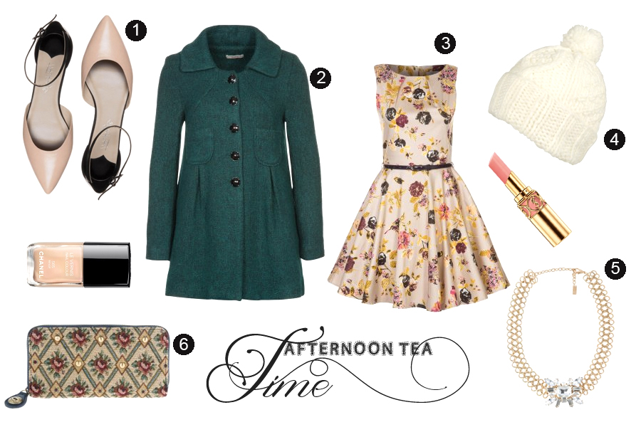 Afternoon tea nachmittag tee kaffee niedlich kleid 50er darling clutch winter YSL Chanel CATS & DOGS fashion blog Berlin