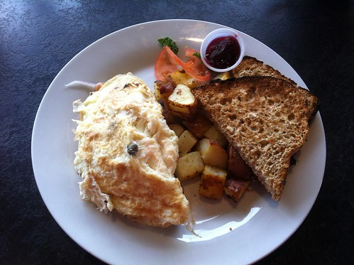 Smoked Salmon Omelette by raise my voice