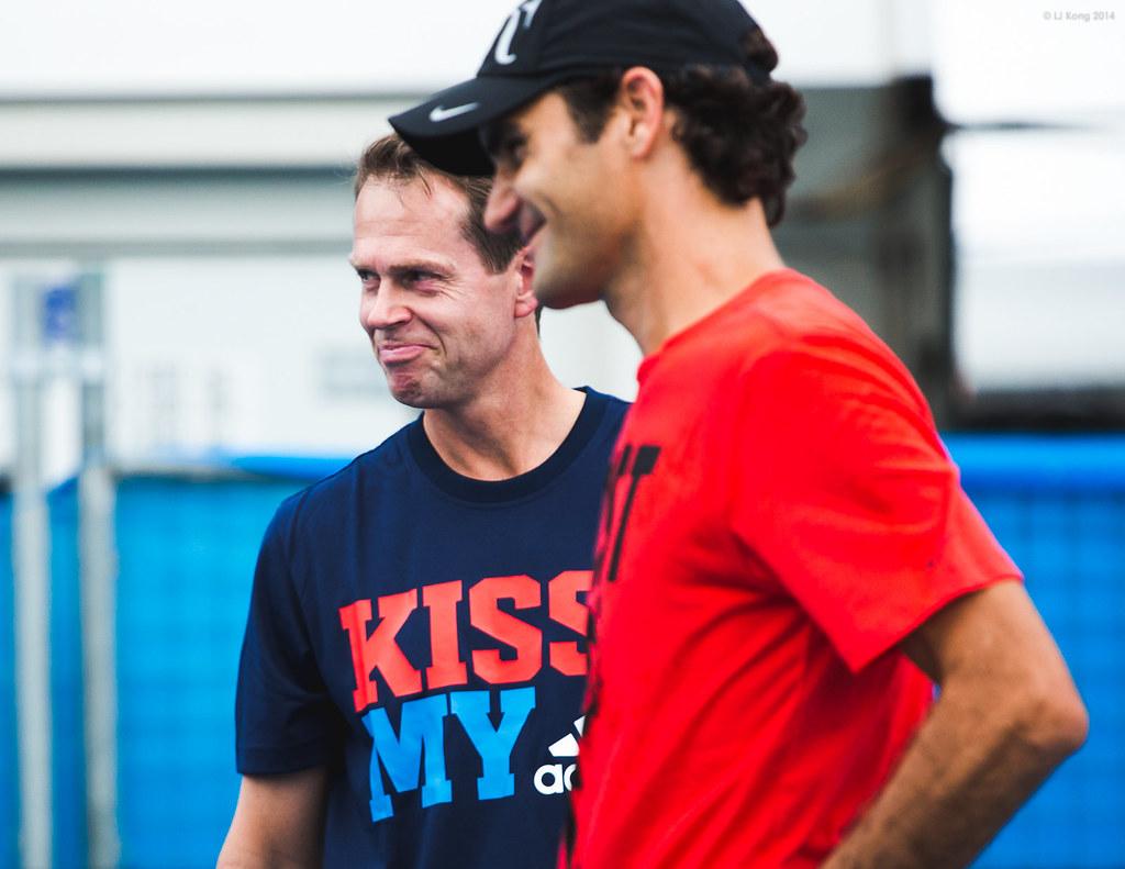 Roger Federer with Stefan Edberg
