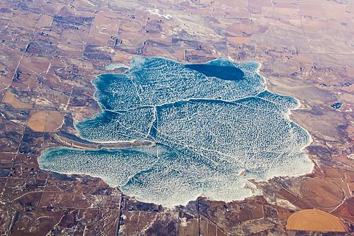 Aerial View of Ocean Lake, Wyoming