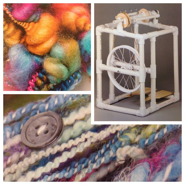 Images from Ashley Martineau's book Spinning & Dyeing yarn - review in Crafts from the Cwtch blog