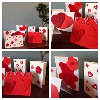 Valentine cards #felt #fimo #sewing #bostik #review @tots100
