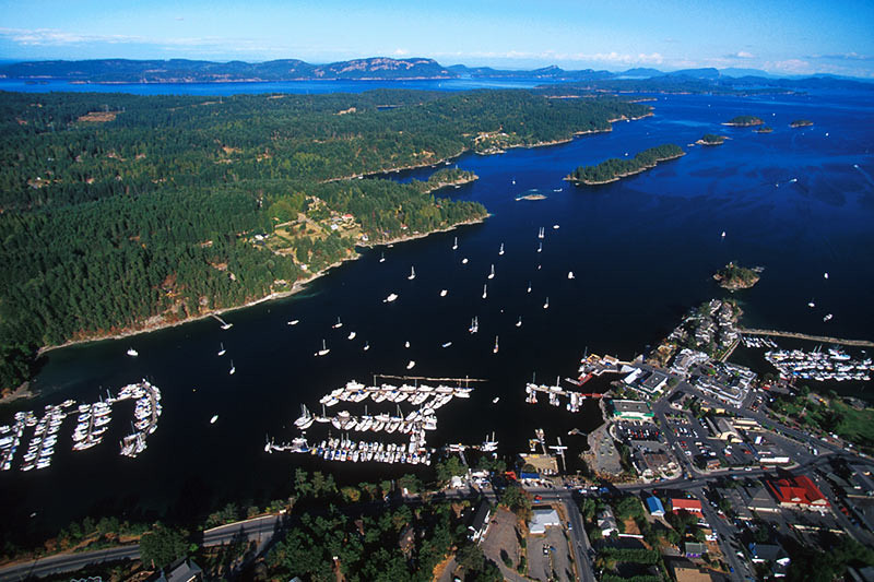 Ganges Harbor, Ganges, Saltspring Island, Gulf Islands, Georgia Strait, British Columbia, Canada