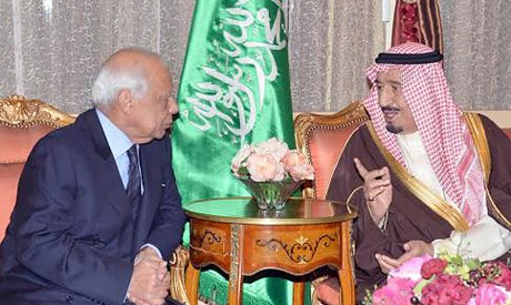 Egyptian interim Prime Minister Beblawi speaks with crown prince of Saudi Arabia. The Gulf monarchy has pledged aid to the military regime. by Pan-African News Wire File Photos