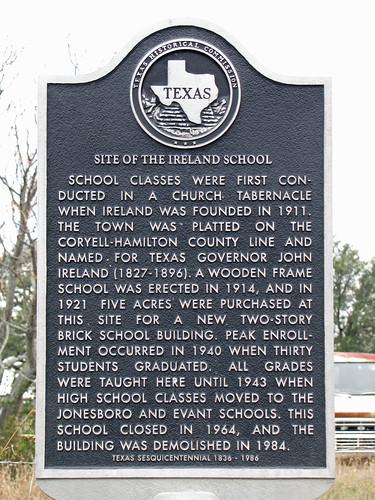 ireland usa texas unitedstates coryellcounty texashistoricalmarkers openplaques:id=15558