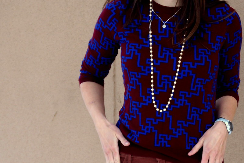 Target red and blue geometric sweater