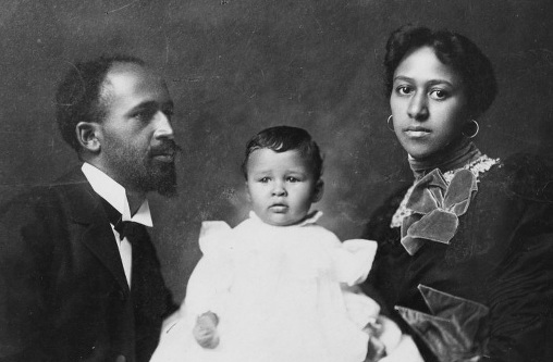 W.E. B. DuBois with his wife Nina and daughter Yolande.