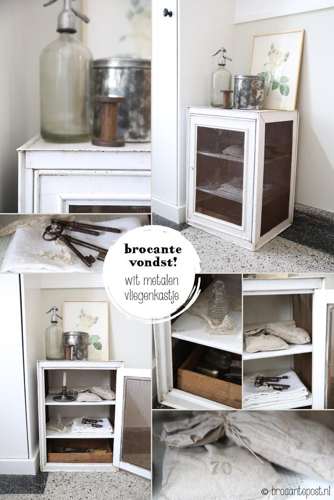 Brocante-vondst---wit-metalen-vliegenkastje---by-brocantepost