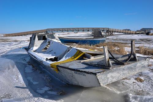 Abandoned Boat on Tundra