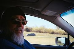Bob driving back from VA