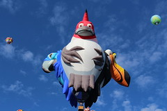 Some sort of a three-headed bird at the Albuquerque Balloon Fiesta