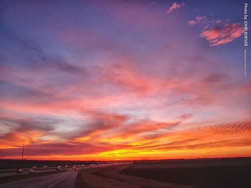 douglascounty kansas usa sunset aftersunset sky skies evening dusk lawrence k10 highway10 statehighway10 exit interchange clouds color colour colorful colourful 2016 march march2016