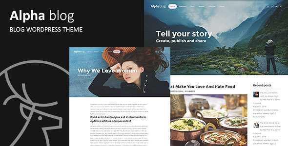 Alpha-blog WordPress Theme free download