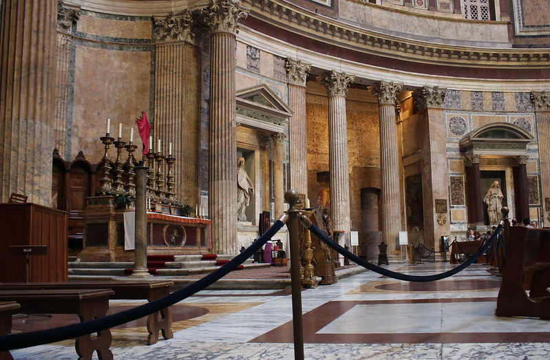 Altar in Pantheon in Rome