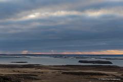 Sun Pillars over Breiðafjörður
