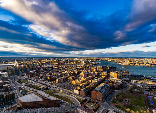 dramaticclouds clouds northend boston goldenhour rokinon rokinon12mm sony sonya6000 sonyalpha mirrorless massachusetts newengland city bostonharbor cityscape customhousetower view zakimbridge