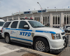NYPD TCU K-9 Police Vehicle, 2017 Yankees Home Opener at Yankee Stadium, The Bronx, New York City