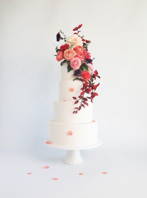 Summer Bloom Cake by Emmy Roberts of Cake Bijou