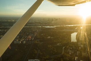Flying over warsaw