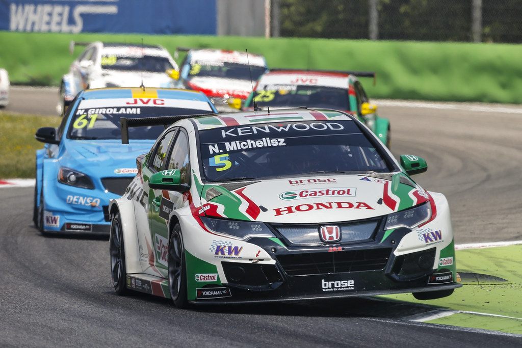 05 MICHELISZ Norbert (hun) Honda Civic team Castrol Honda WTC action during the 2017 FIA WTCC World Touring Car Race of Italy at Monza, from April 28 to 30  - Photo Francois Flamand / DPPI
