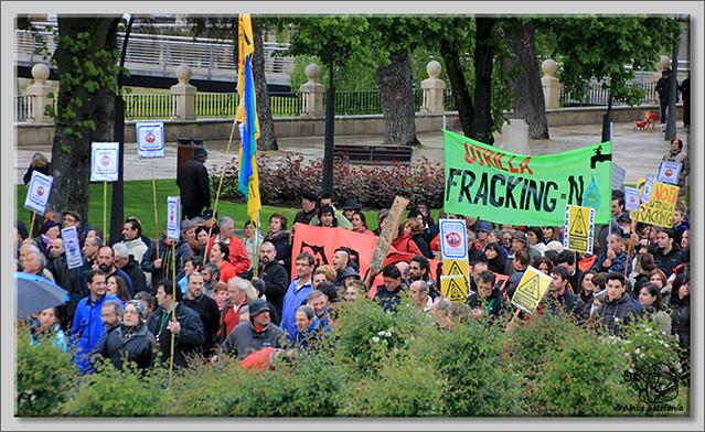12 Manifestación contra el fracking en Burgos
