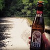 Forgot I took this yesterday, pretty perfect moment at the top of the number trail. @millstreetbrew #beer #instabeer #nature #waterfall
