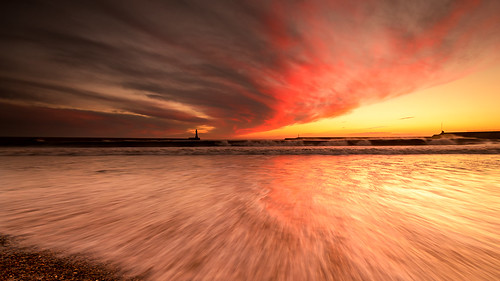 sunset sea england seascape water alan landscape nikon harbour sigma skys sunderland roker dingwall
