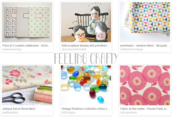 Etsy favourite lists : 'feeling crafty' curated by Emma Lamb