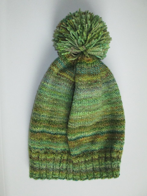 Green handspun hat