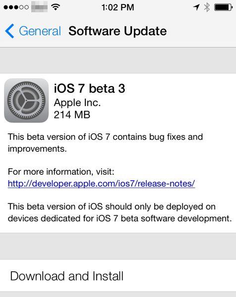 Скачать iOS 7 beta 3
