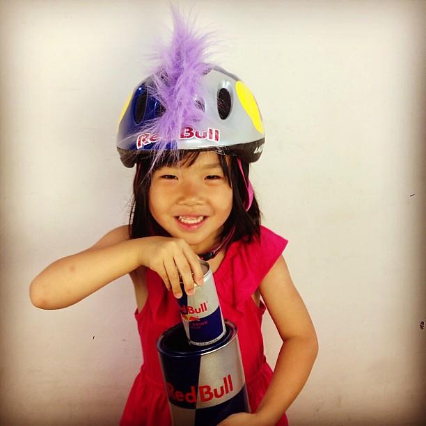 @REDBULL GIRL来た! (4歳)#親バカでスマン#redbull  #redbullathlete #swampthings #lazerhelmet